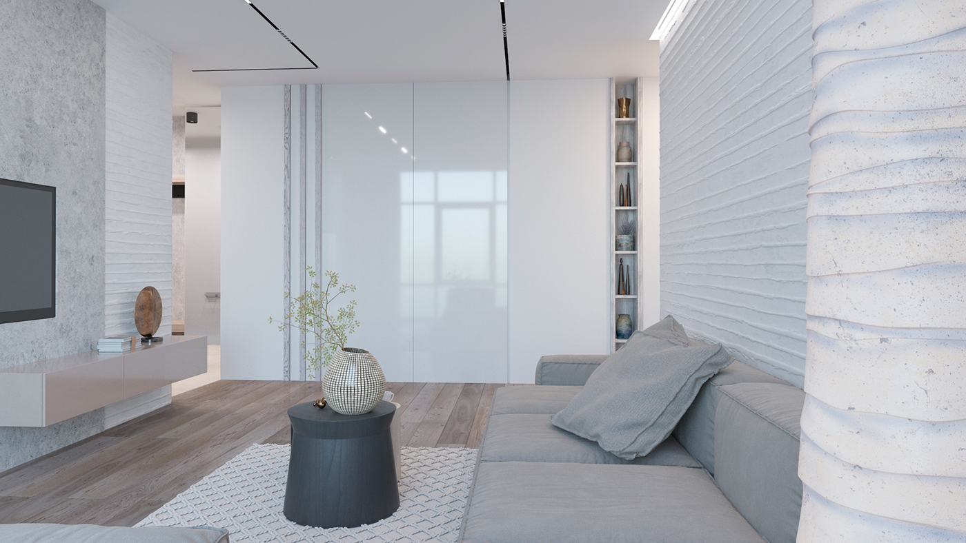 This Is A White Apartment With Different Textures The Interior Filled Innovative Solutions And Unique Details Ukrainian Ethnic Motifs