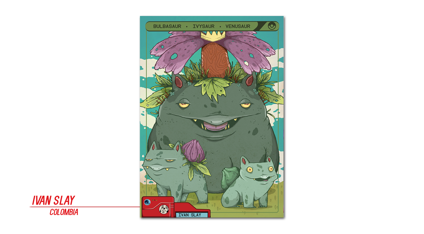 Pokemon PokemonGO illustrators concept ILLUSTRATION  color cards proyects