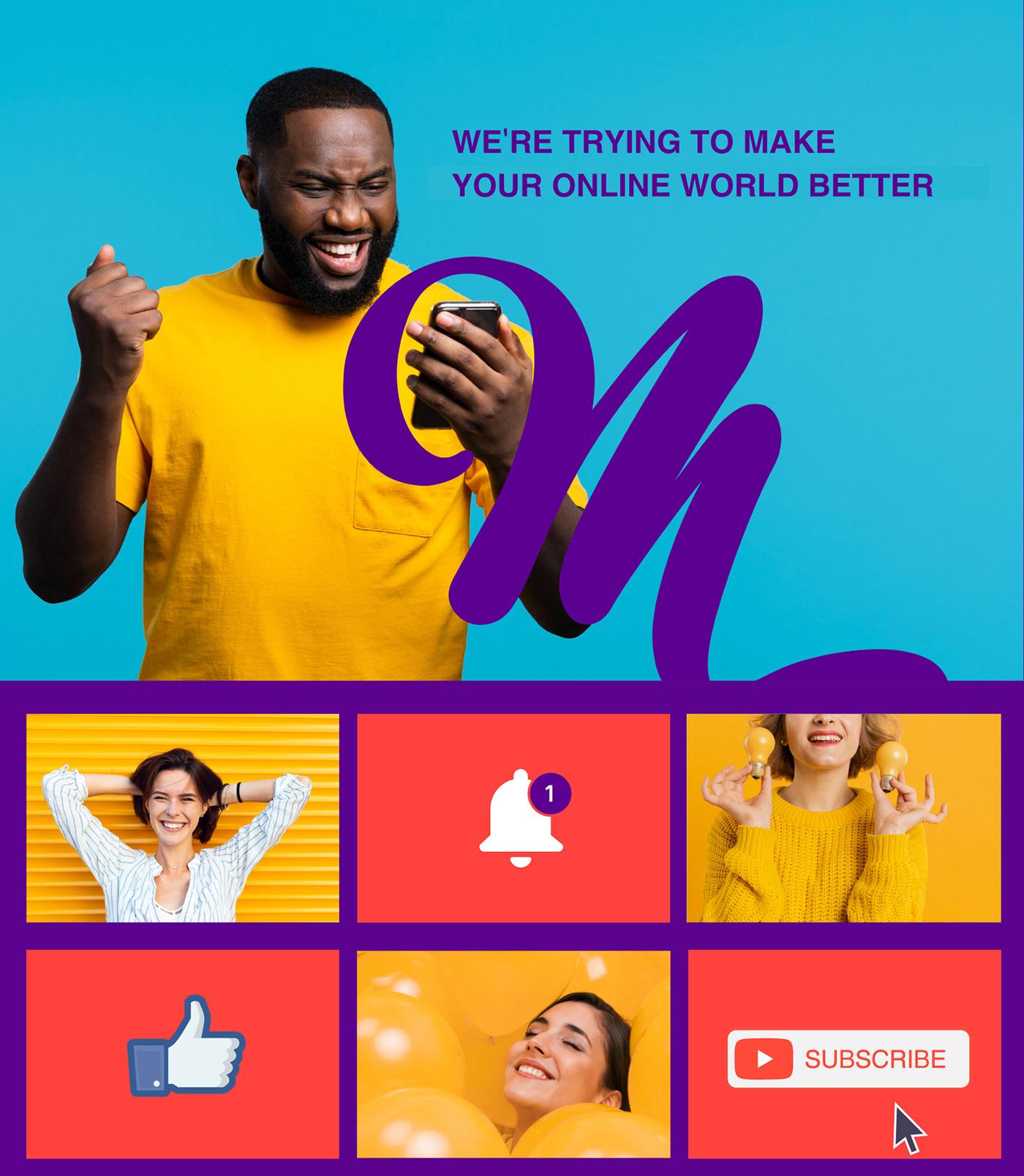 brand branding  Calligraphy   graphic design  ILLUSTRATION  media Mediastaa rebranding social media Youtube Channel