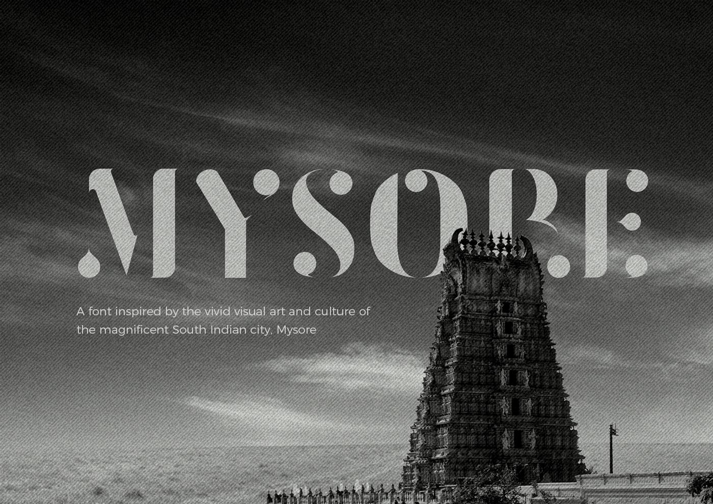 font design download mysore Typeface minimal round heading India asian