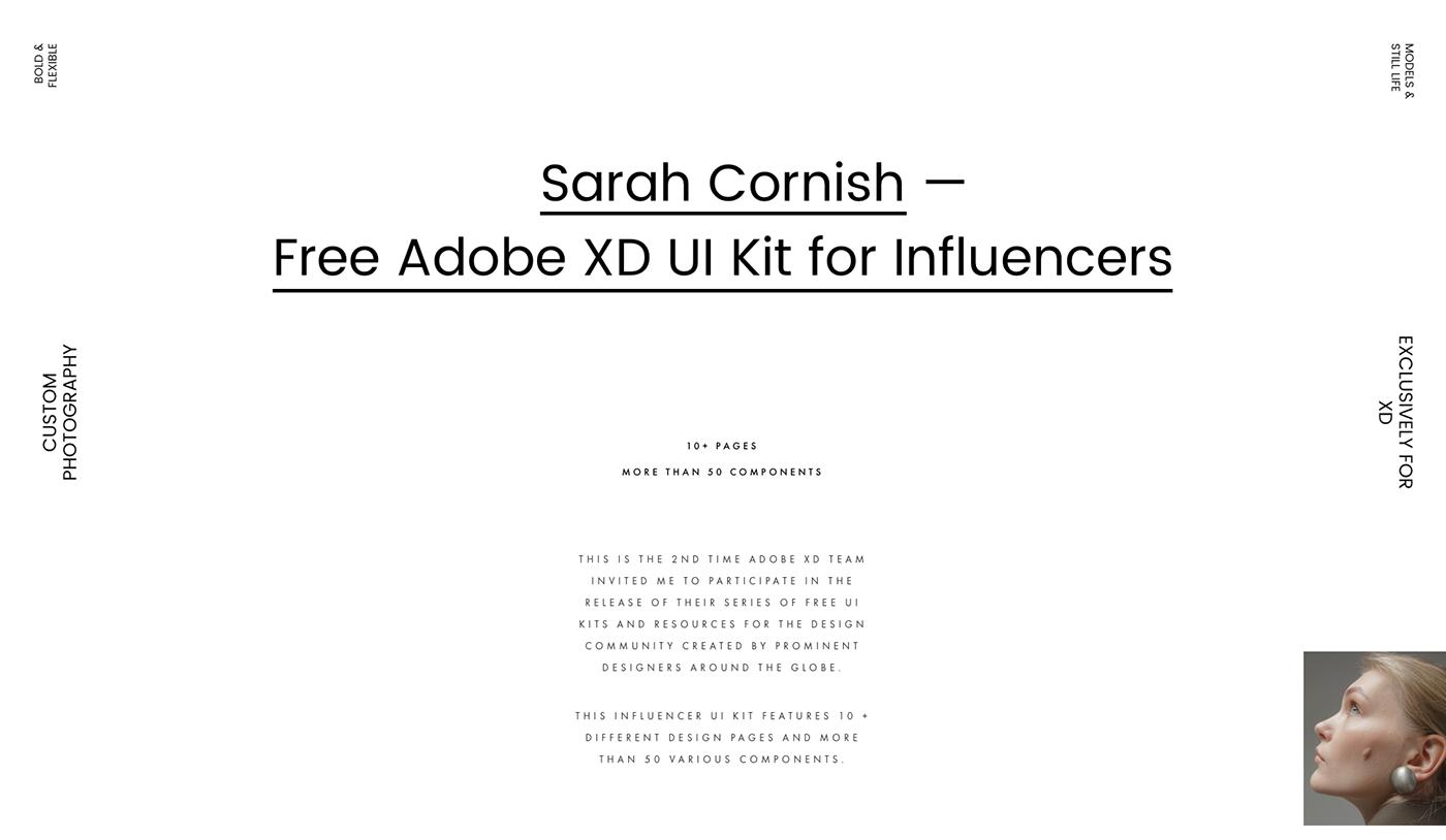 Adobe XD xD ui kit freebie Fashion  editorial look book Ecommerce