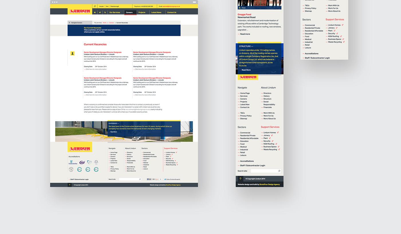 Responsive lincoln Website corporate art direction