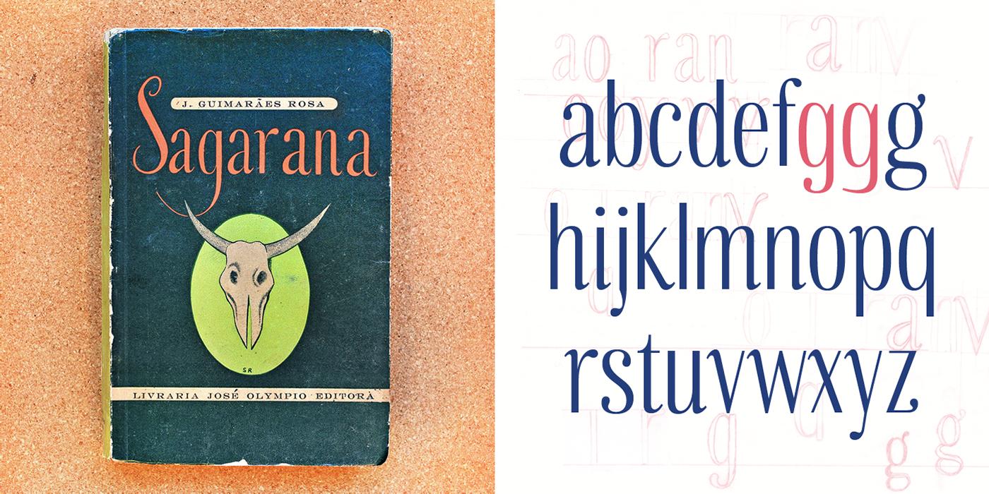 Typeface font Brazil sagarana type design editorial typography   graphic design  type tipografia