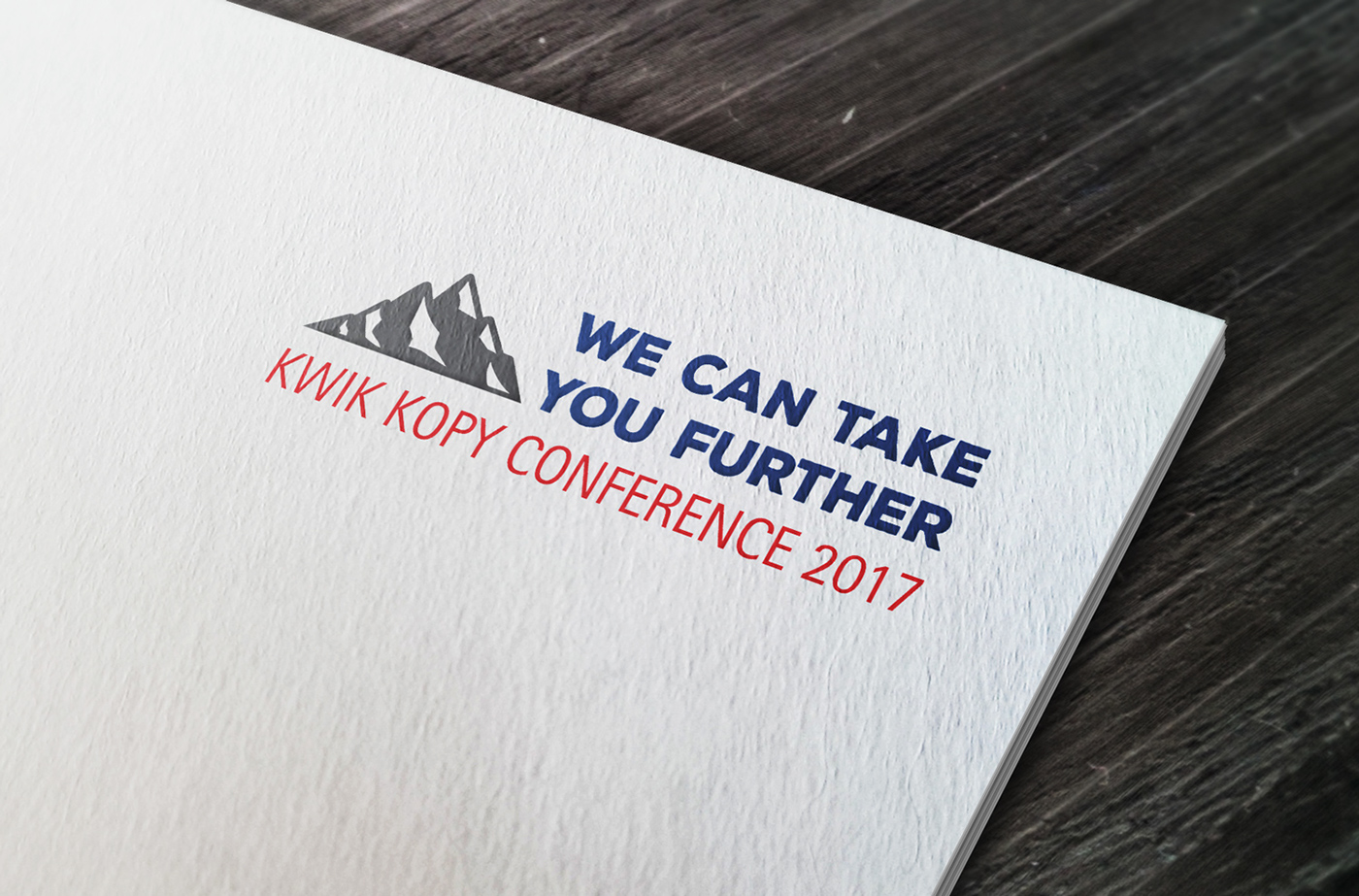Kwik Kopy Conference Materials 2017 on Behance