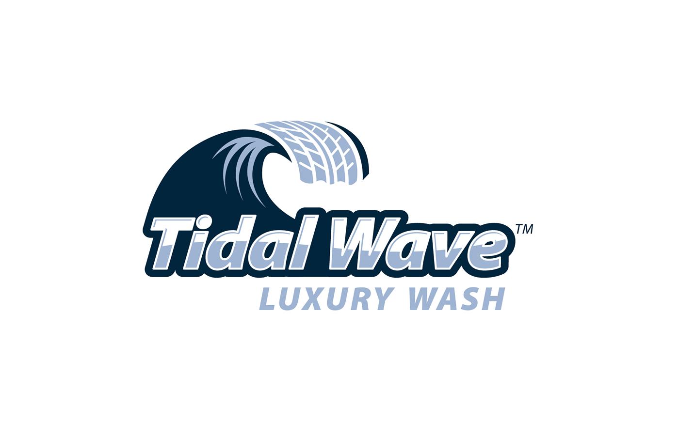 Tidal Wave Car Wash Logo Branding On Behance