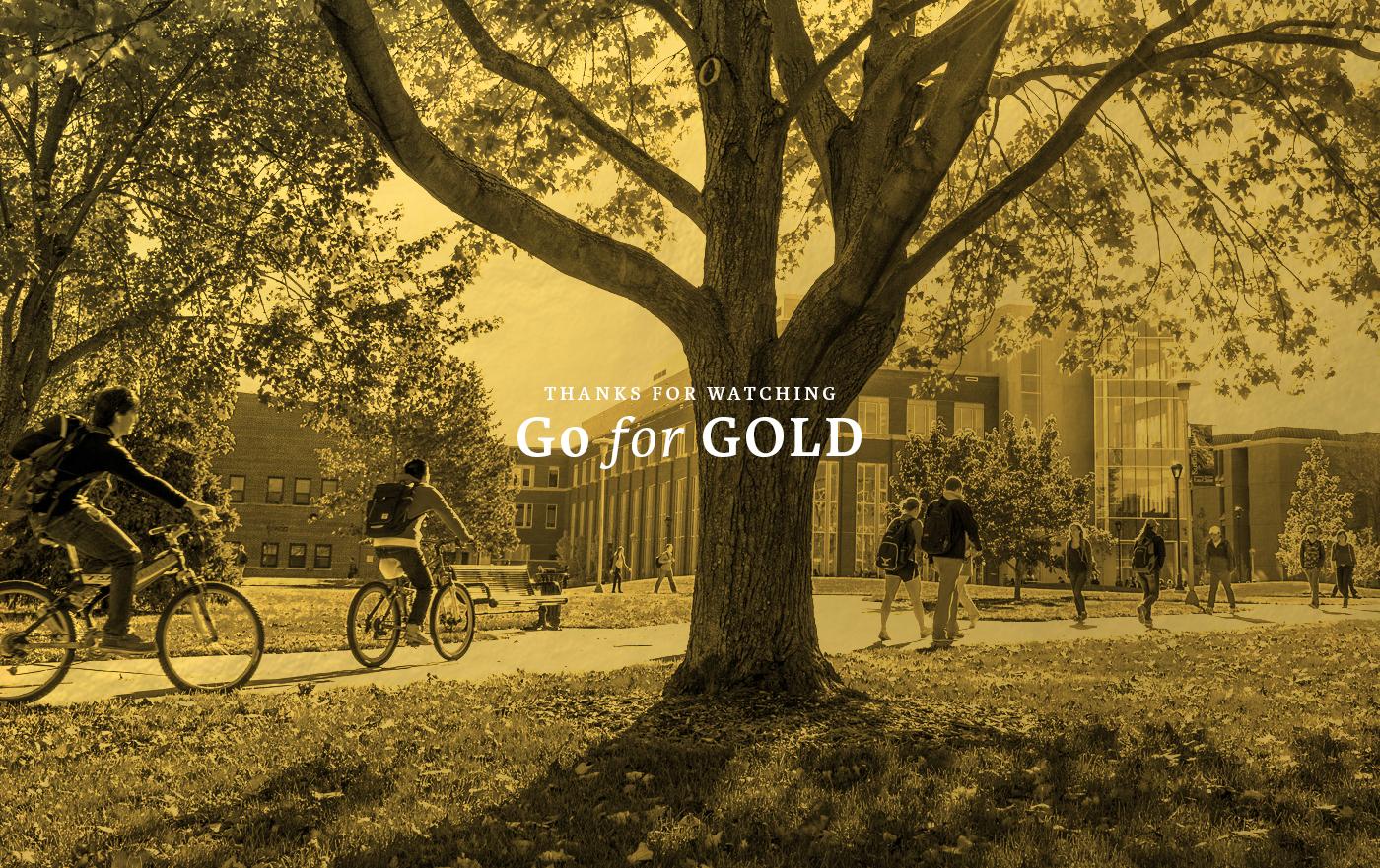 campus creative agency gold elegant classy GoForGold craftmans Students ToTheTop community