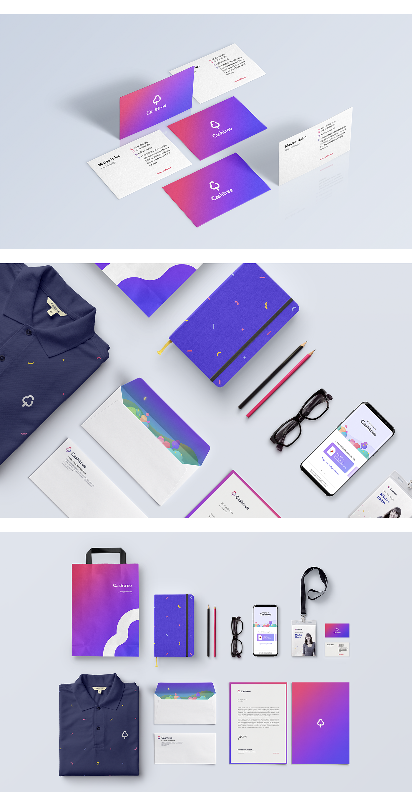 mobile app art direction  Cashtree branding  android UI ux logo