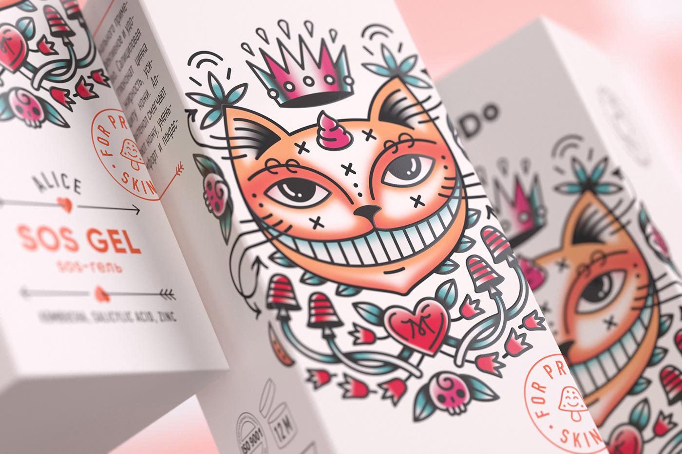 alice alice in wonderland Cat cream modo Modum rabbit skin tattoo insta-mask