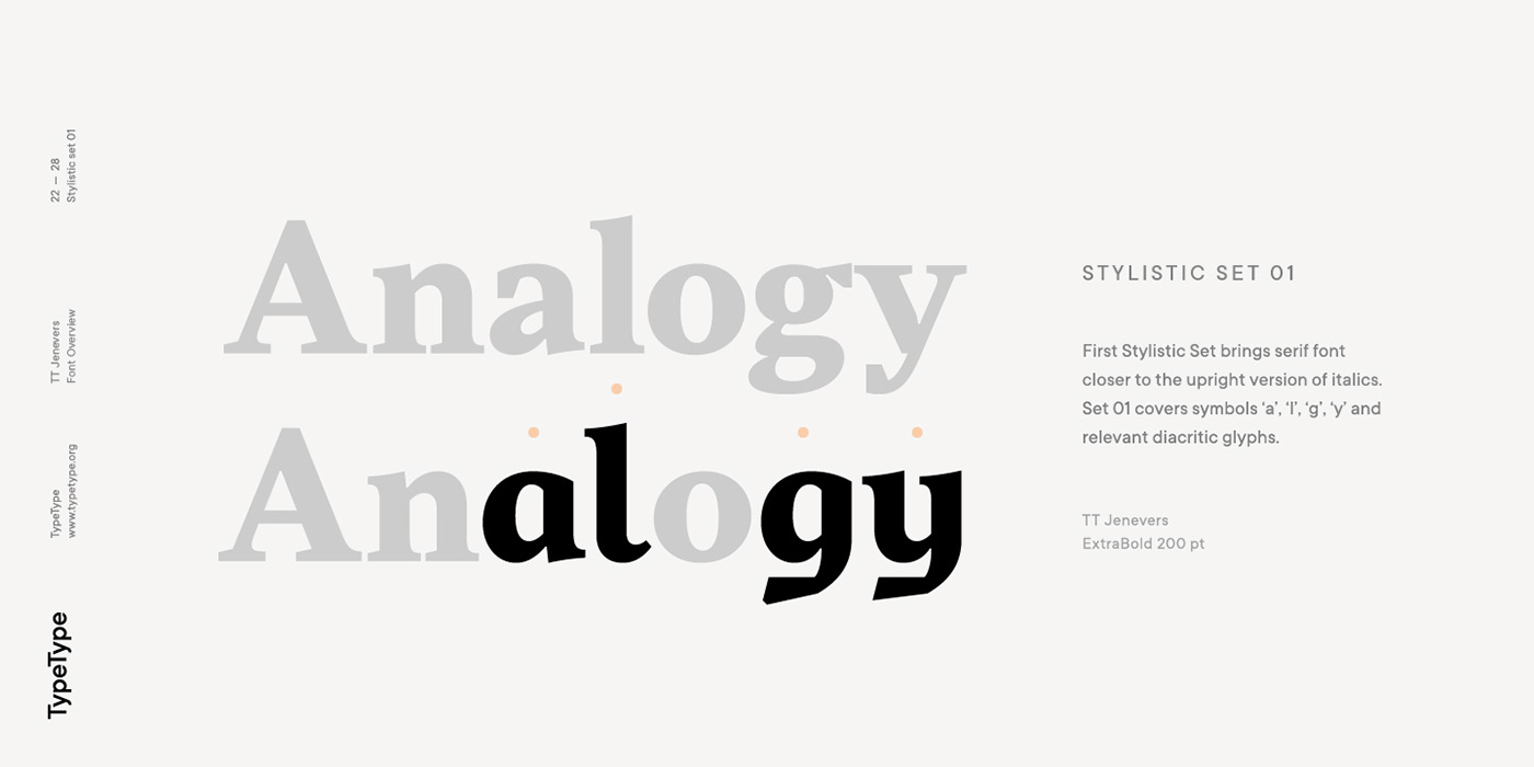 Tt jenevers on behance tt jenevers is a modern serif with dutch flavor the font family features the characteristic details peculiar to dutch serifsthese are the asymmetrical biocorpaavc
