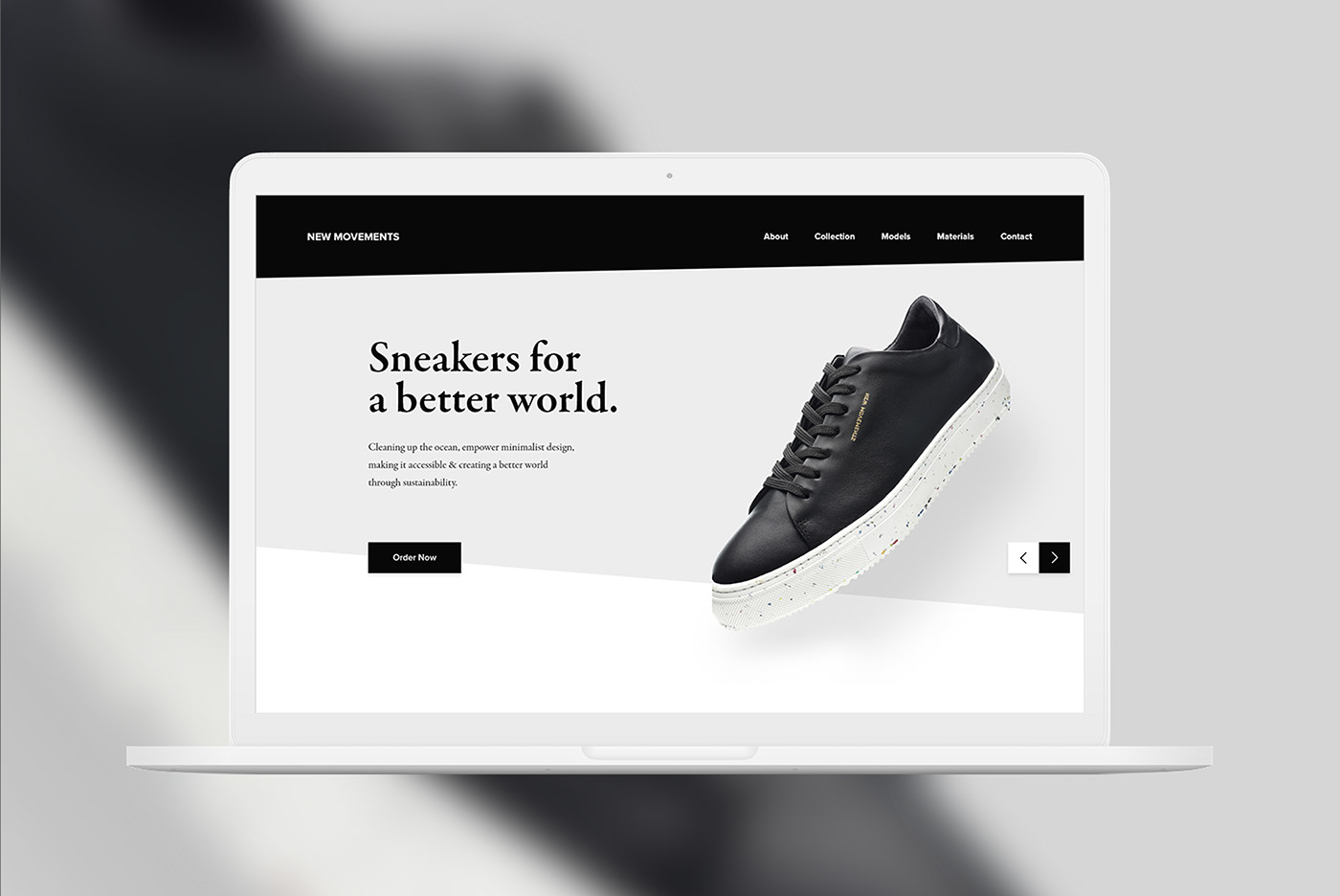 sneaker Webdesign onepage Website UI ux design