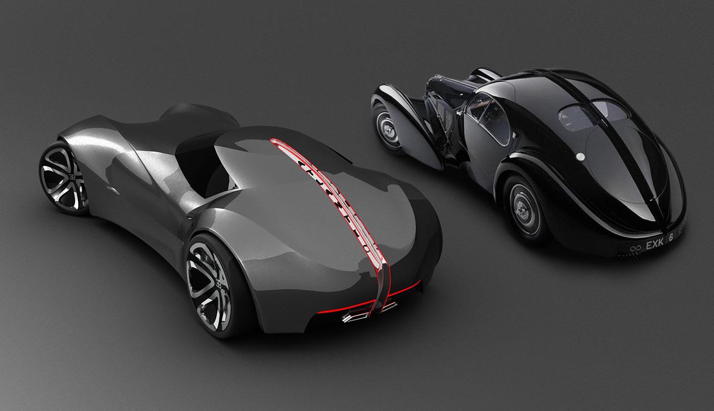 Kid Electric Car >> Bugatti Atlantic (1936) Restyling on Behance