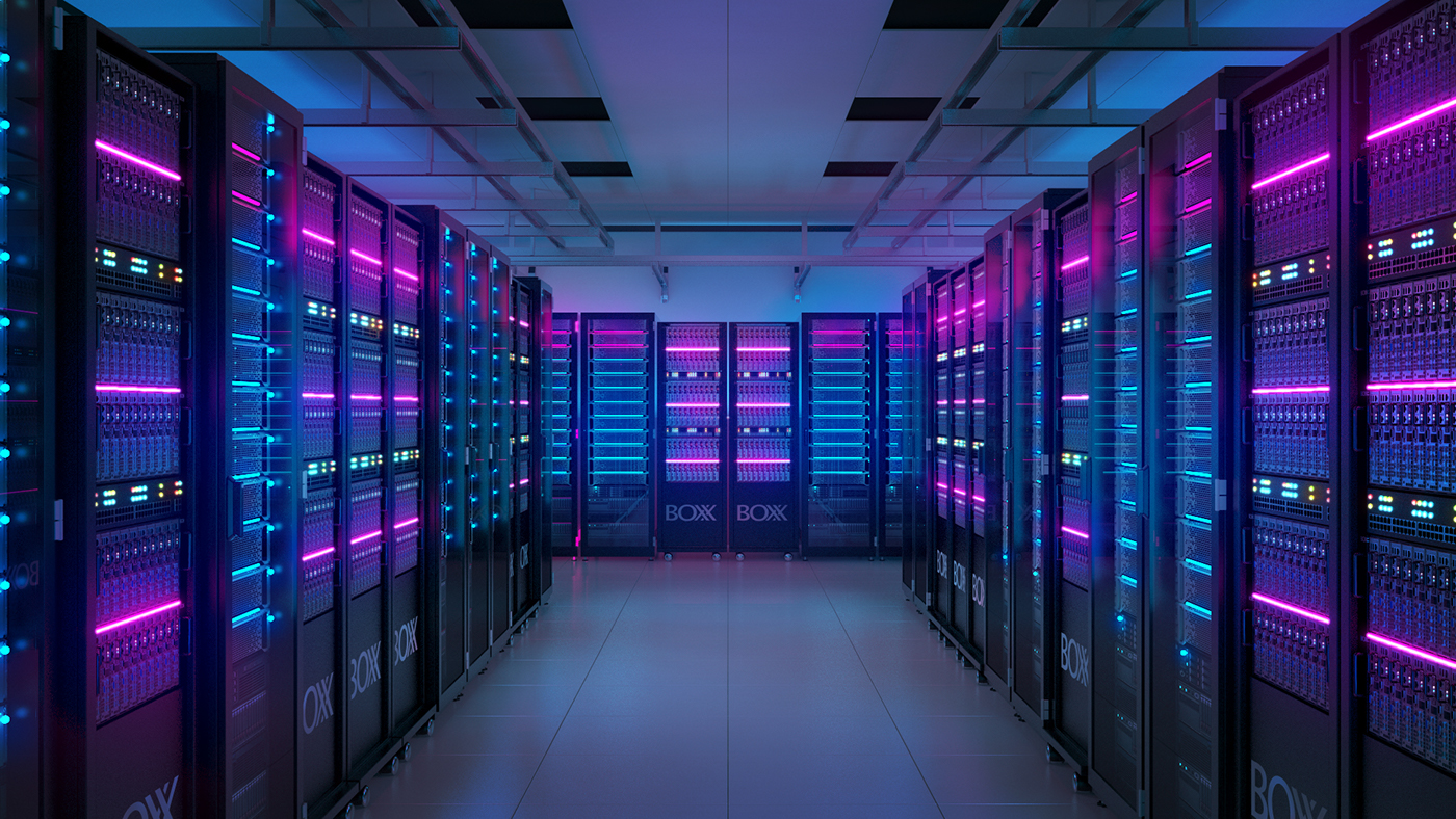 server server room c4d 3D cinema 4d boxx