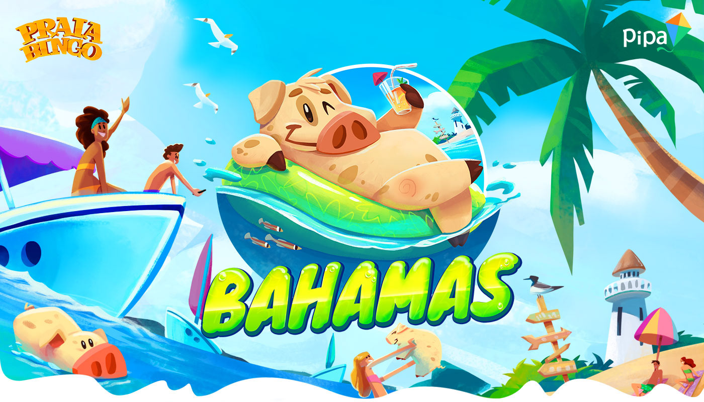 beach bingo game HUD mobile Nature pig race UI vfx