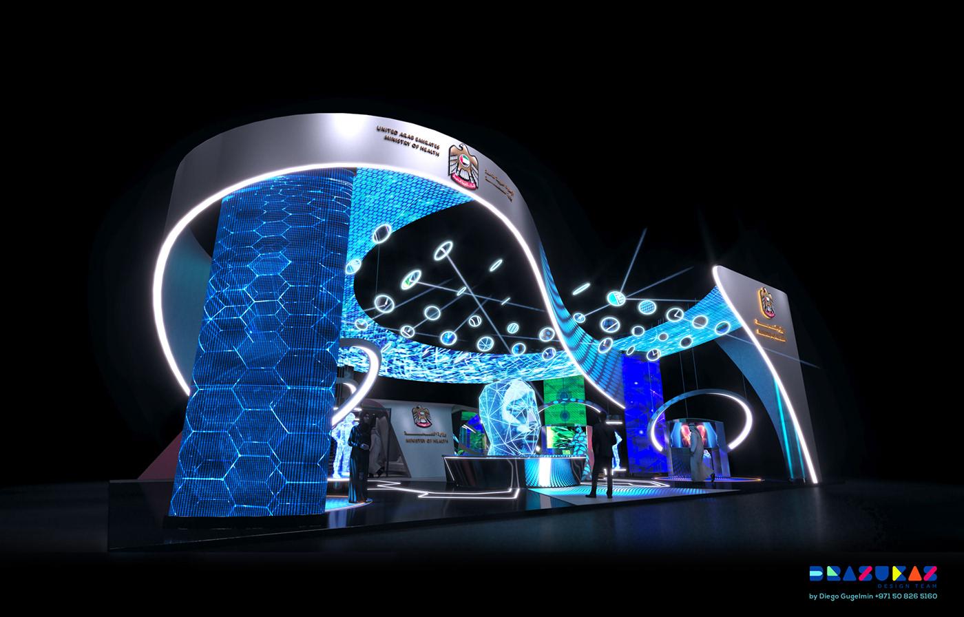 Arabhealth brazukaz design diegogugelmin dubai Event Exhibition  exhibitiondesign MarceloPaoli Technology