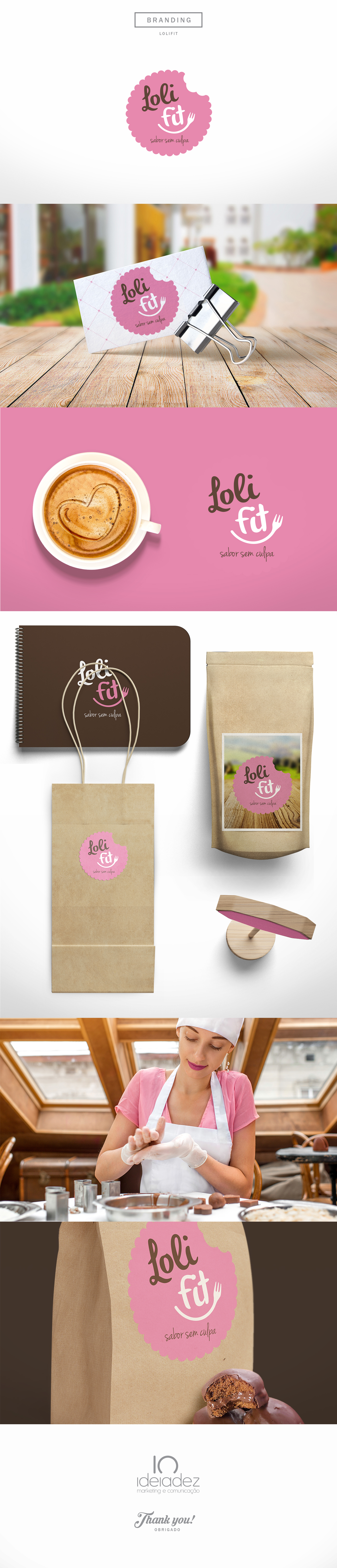 LoliFit FitDesing Candy pink foodbranding brandingdesign Mockup mockupdesign logo
