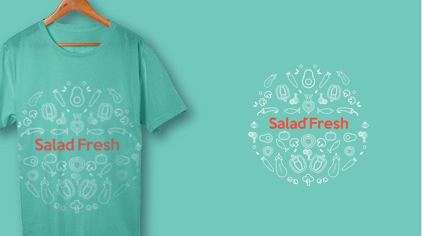 logo logodesign Logotype salad fresh vegetables brand Brand Design