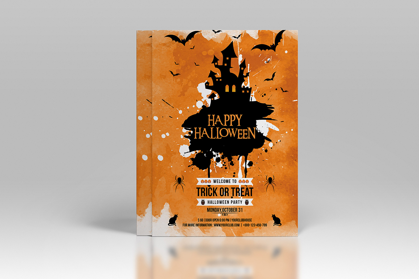 halloween flyer design