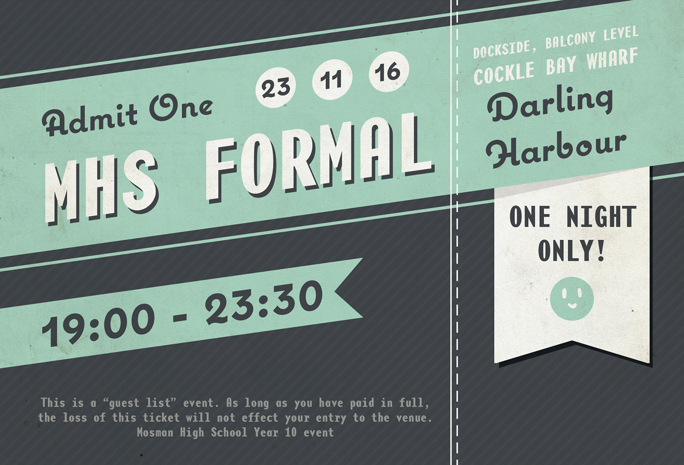 formal ticket design on behance
