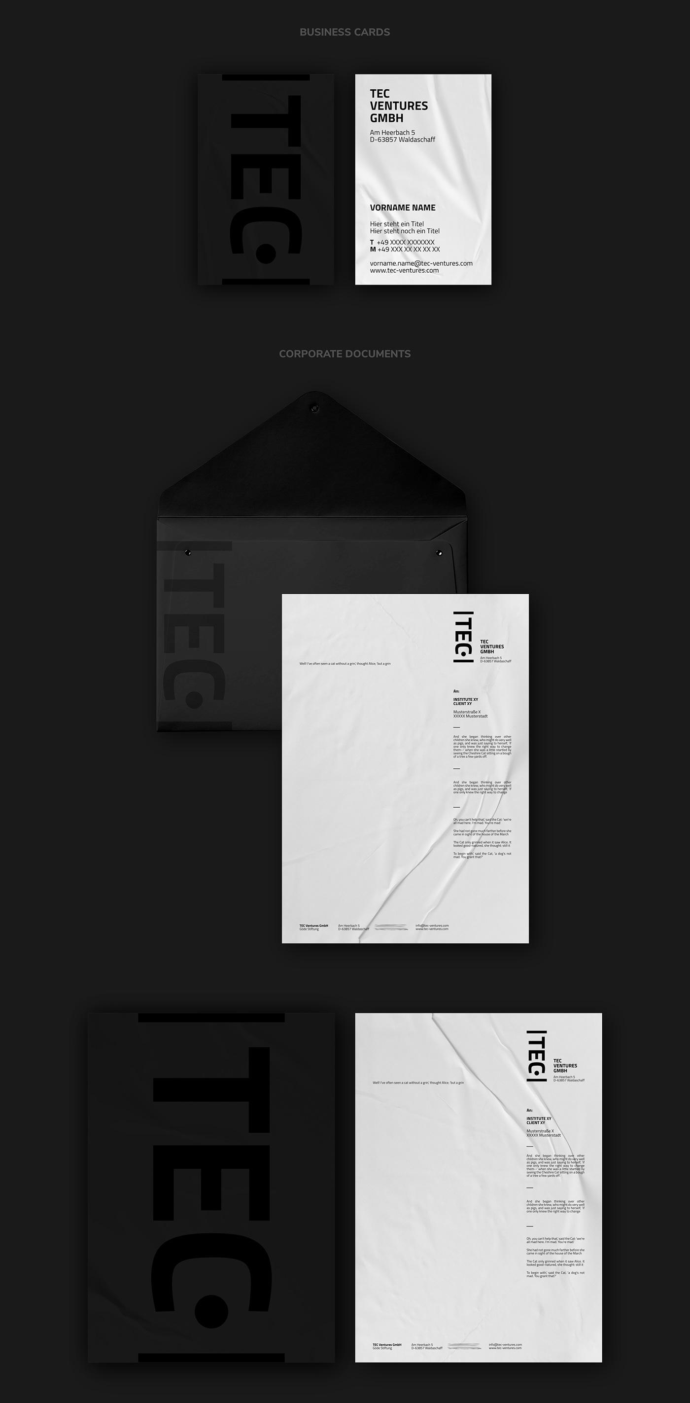 TEC VENTURES // Cards & Documents