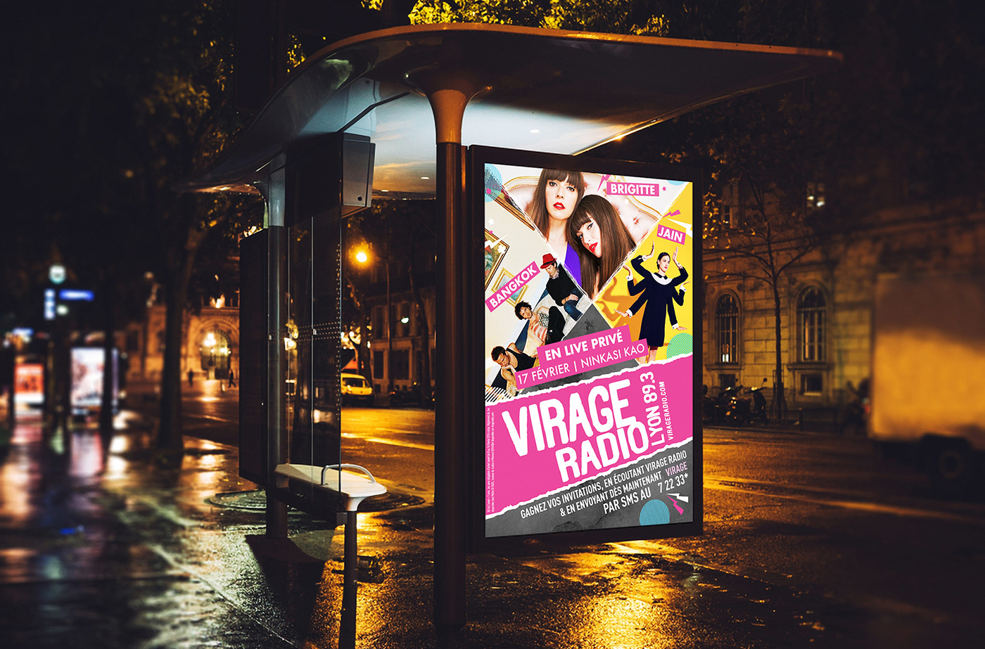 concert live poster music Bangkok band showcase Radio brigitte jain