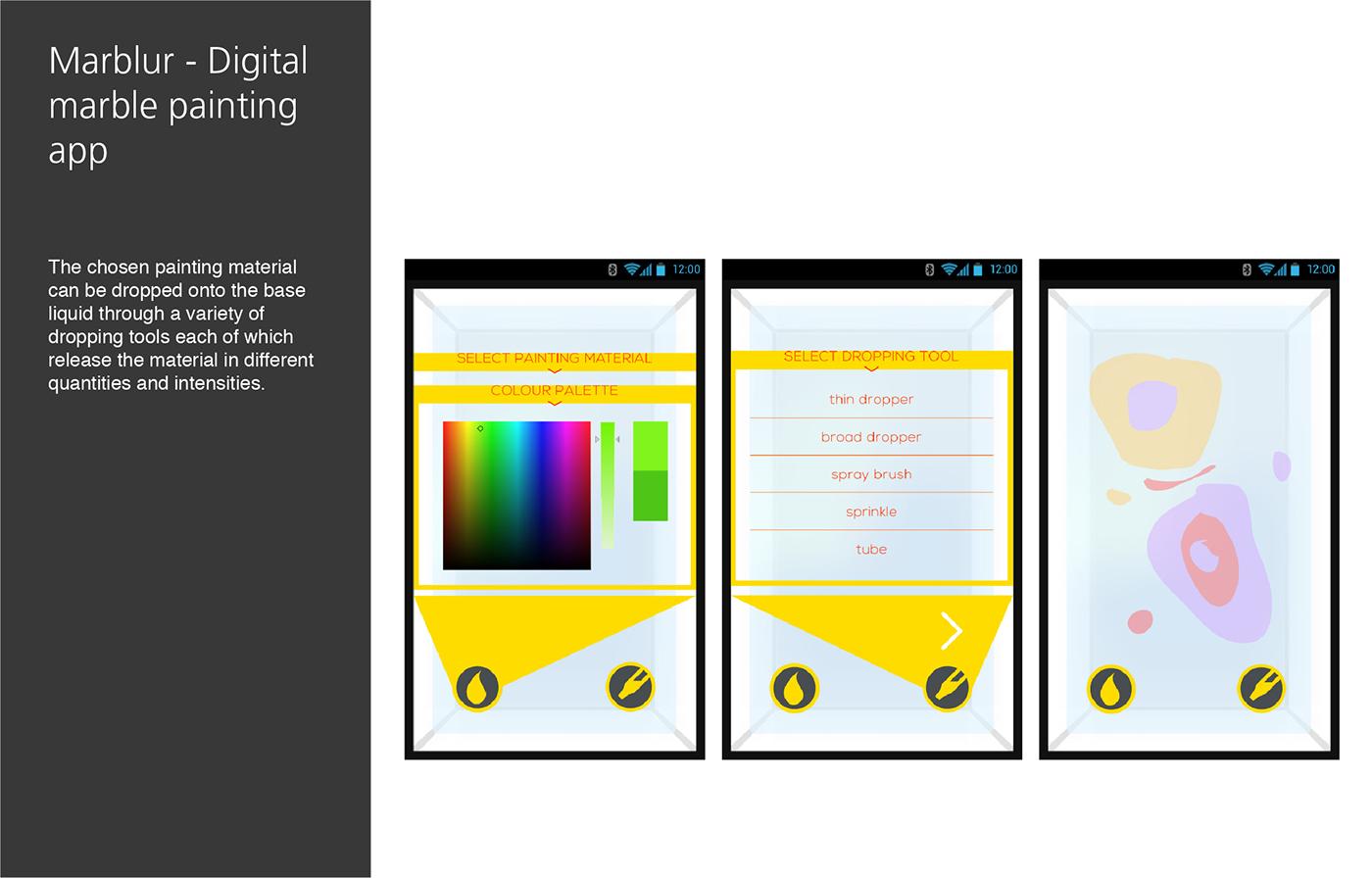 Marblur Digital Marble Painting App On Behance
