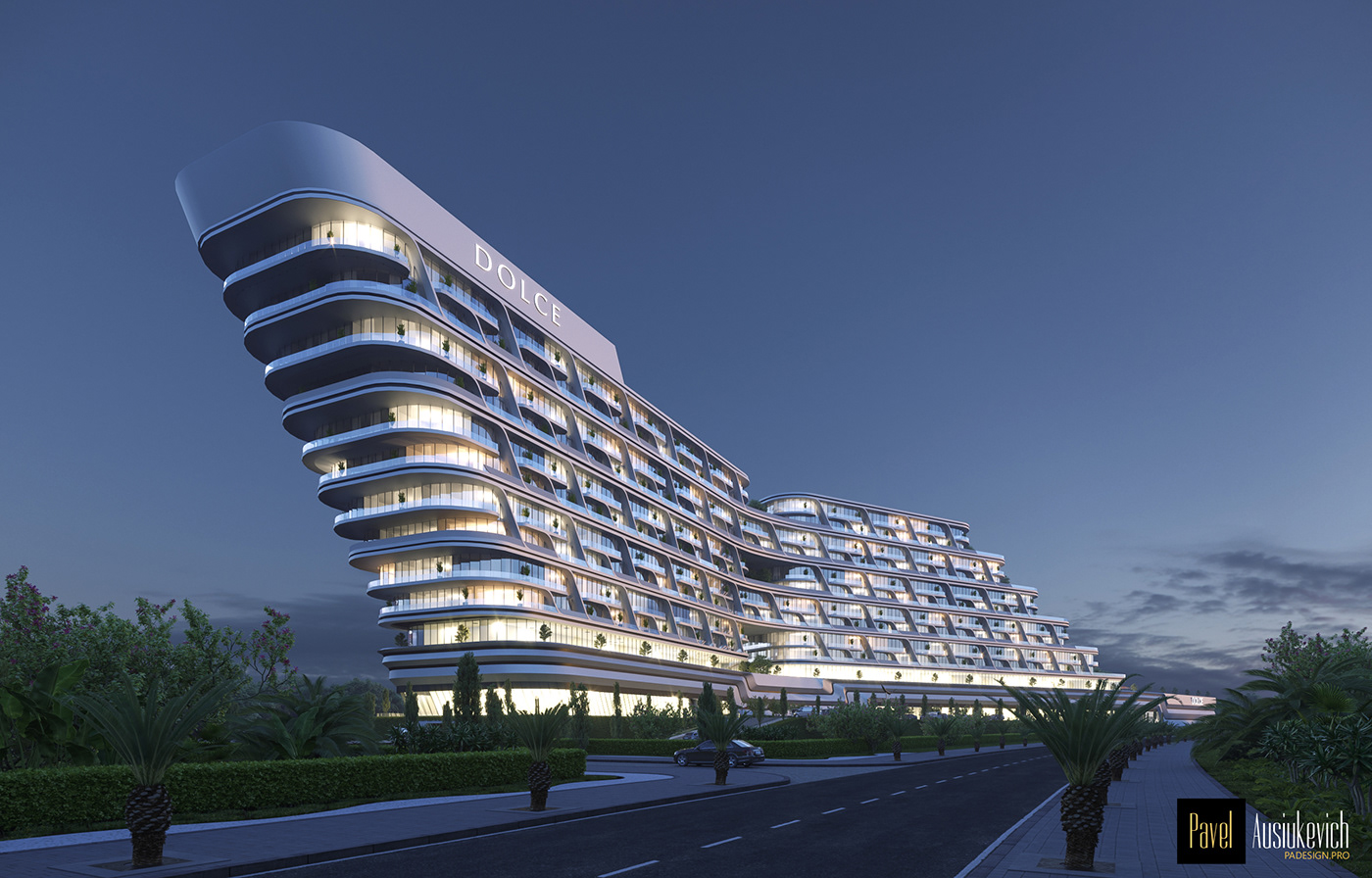 3D model 3d Visualisation apartment architecture hotel project of hotel