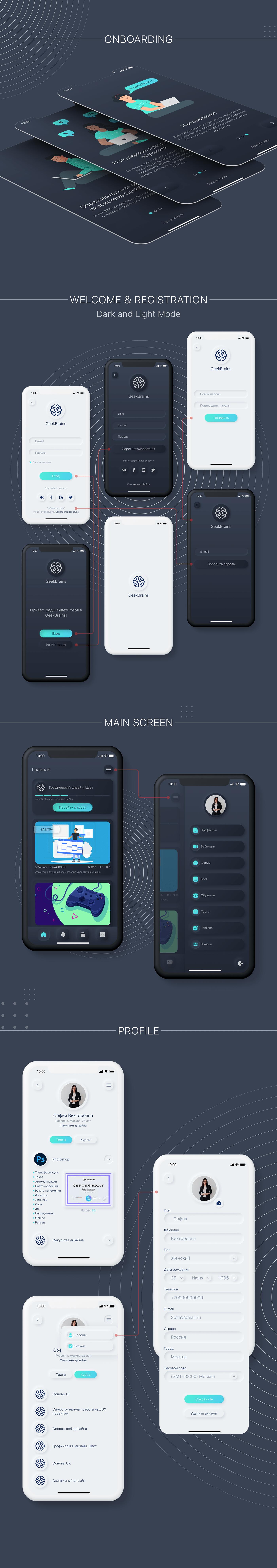 app design Interface mobile UI ux