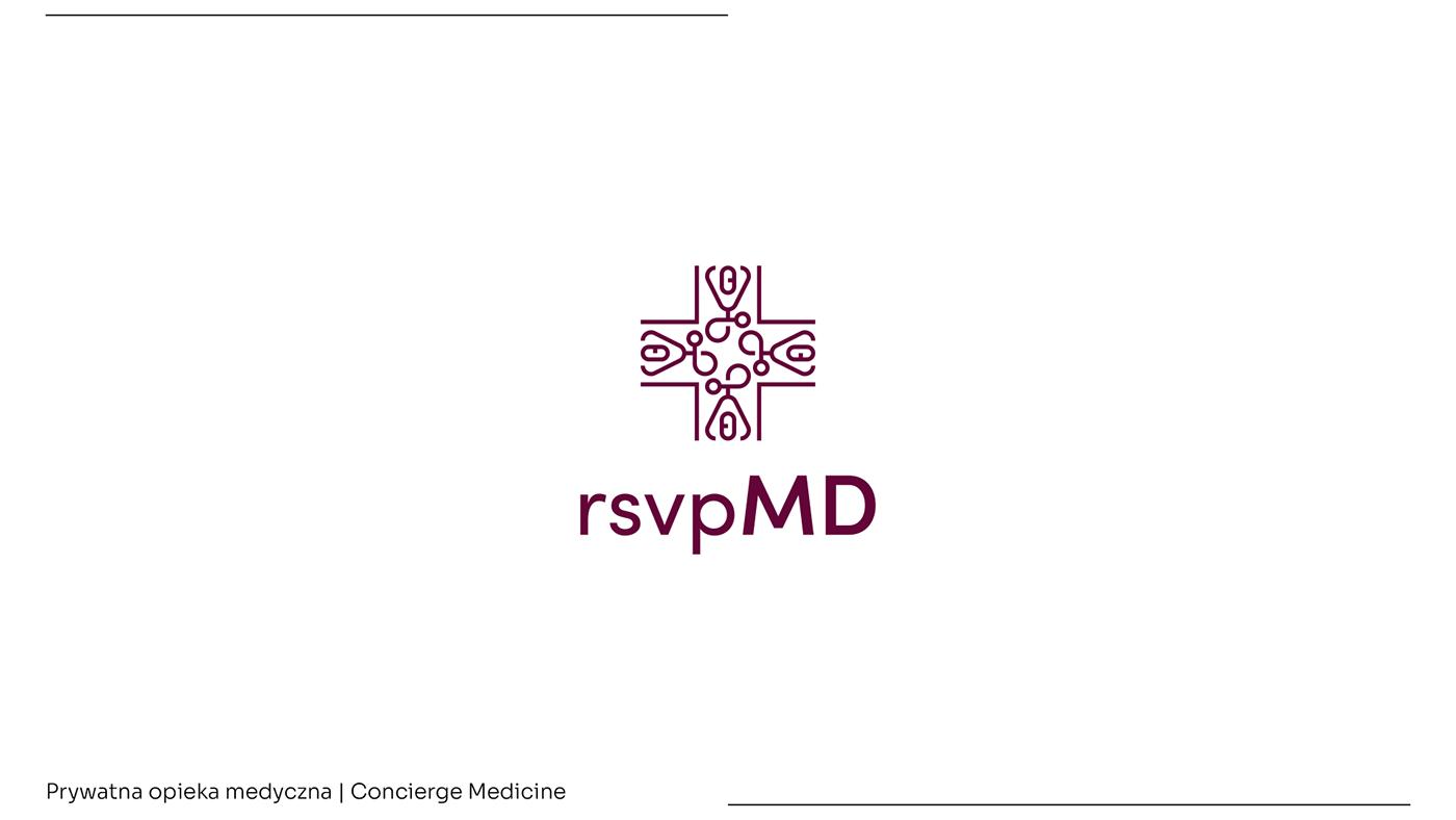 caduceus concierge klinika lekarz logo Logo Design MD medicine medycyna rsvp