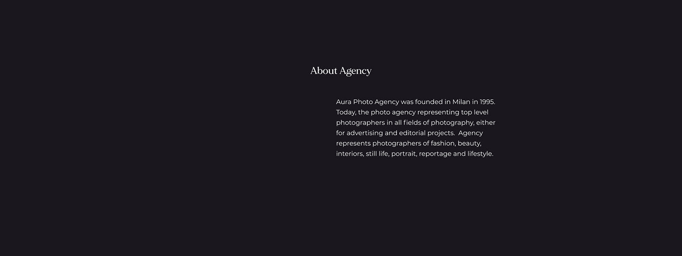 fashion website minimal design minimalist website Fashion agency website model agency website Photo Agency Website Website for model website for photographer Website for stylist Website for videographer