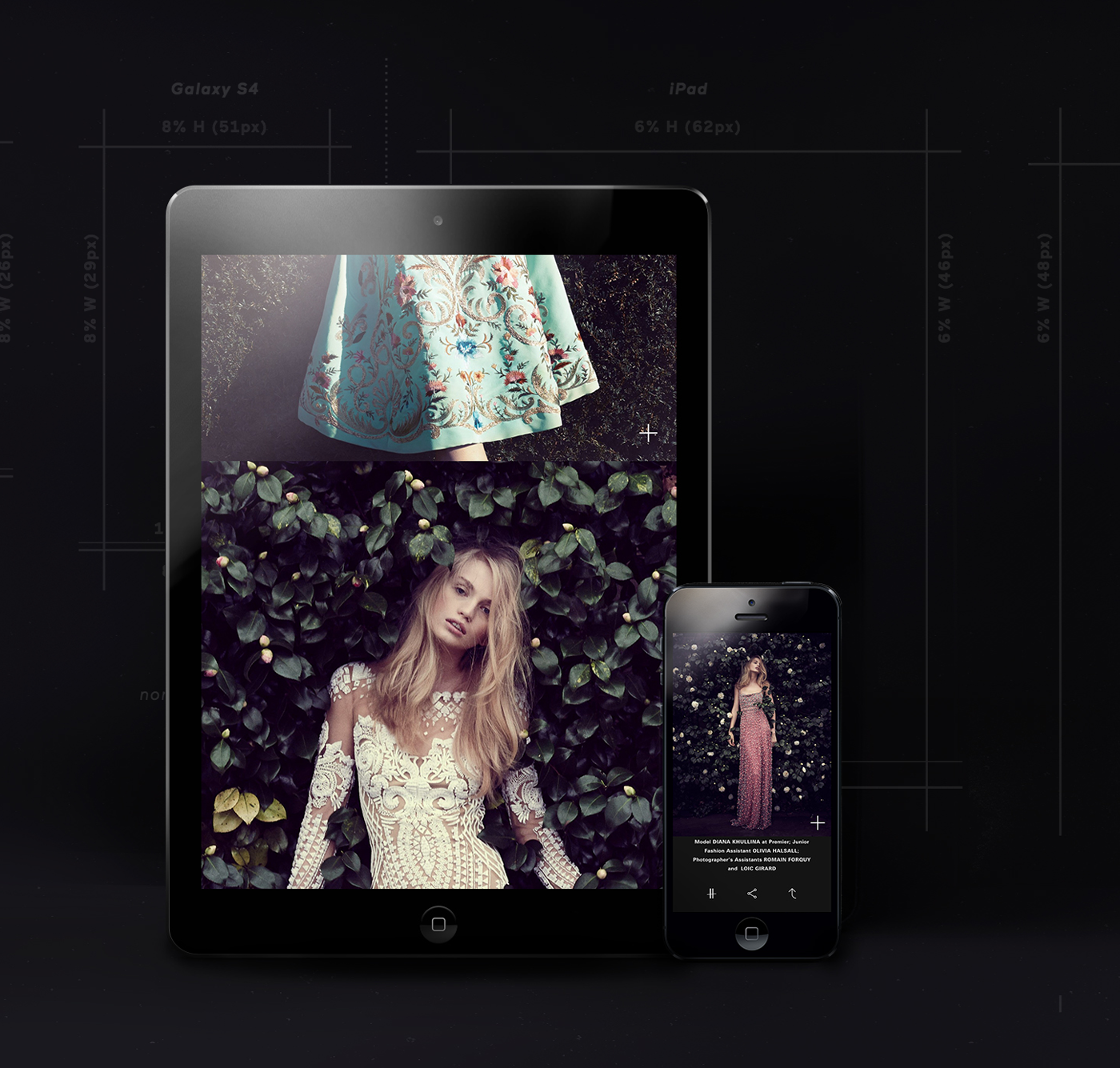 Harrods London magazine iPad iphone android tablet luxury Native Responsive cms modular