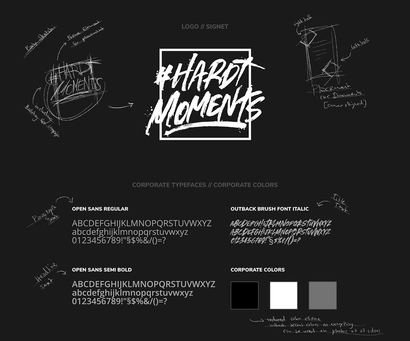 HARDTMOMENTS // Logo