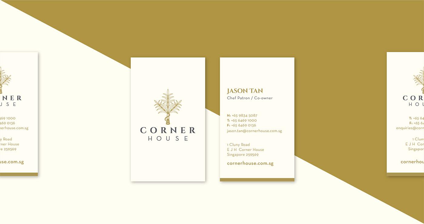 corner house corner house colonial restaurant identity Food  singapore botany garden Gastro-Botanica cuisine
