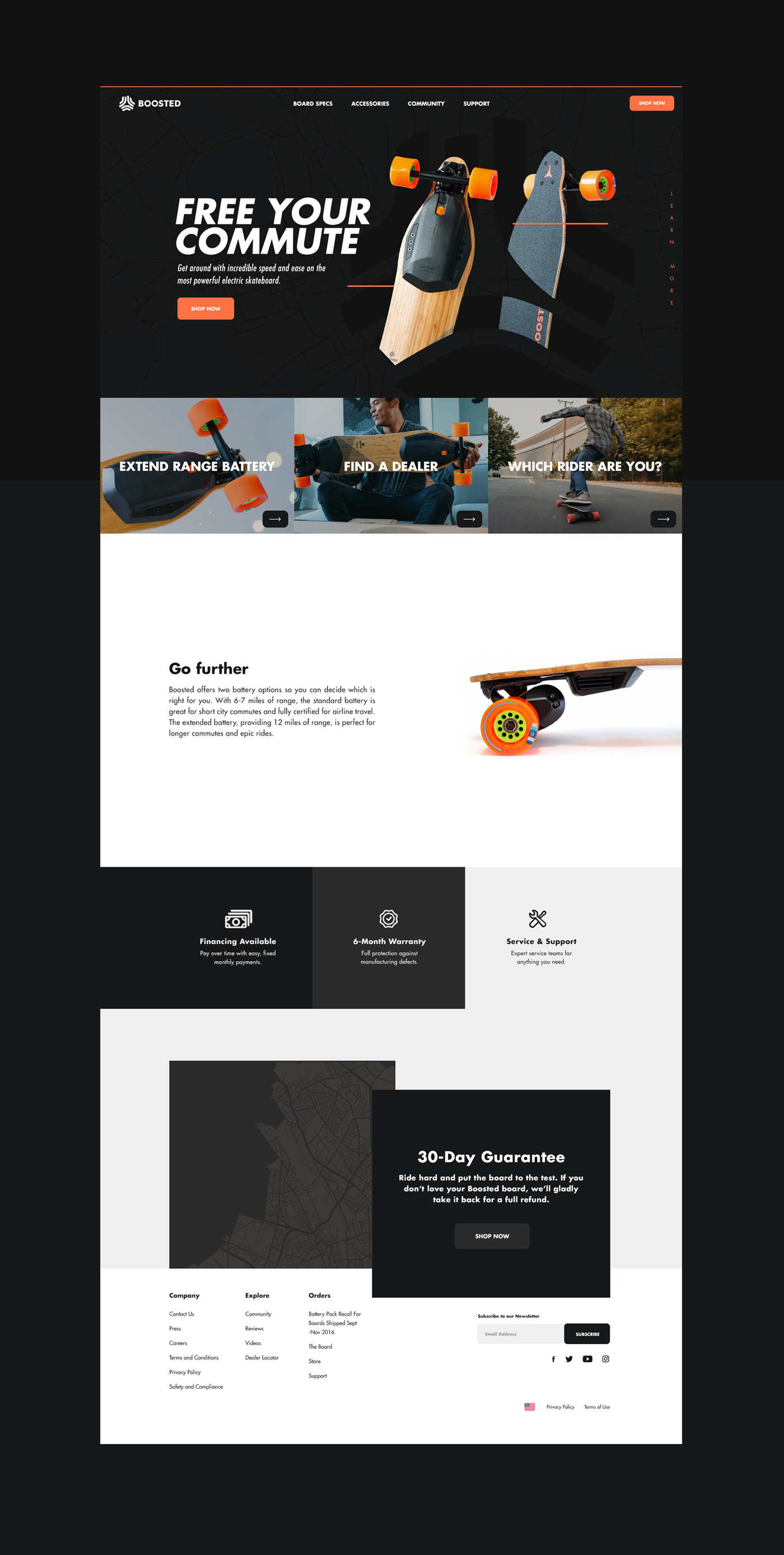 UI/UX boosted   Boosted Boards branding  art direction  graphic design  Web Design  Interaction design  skateboards design