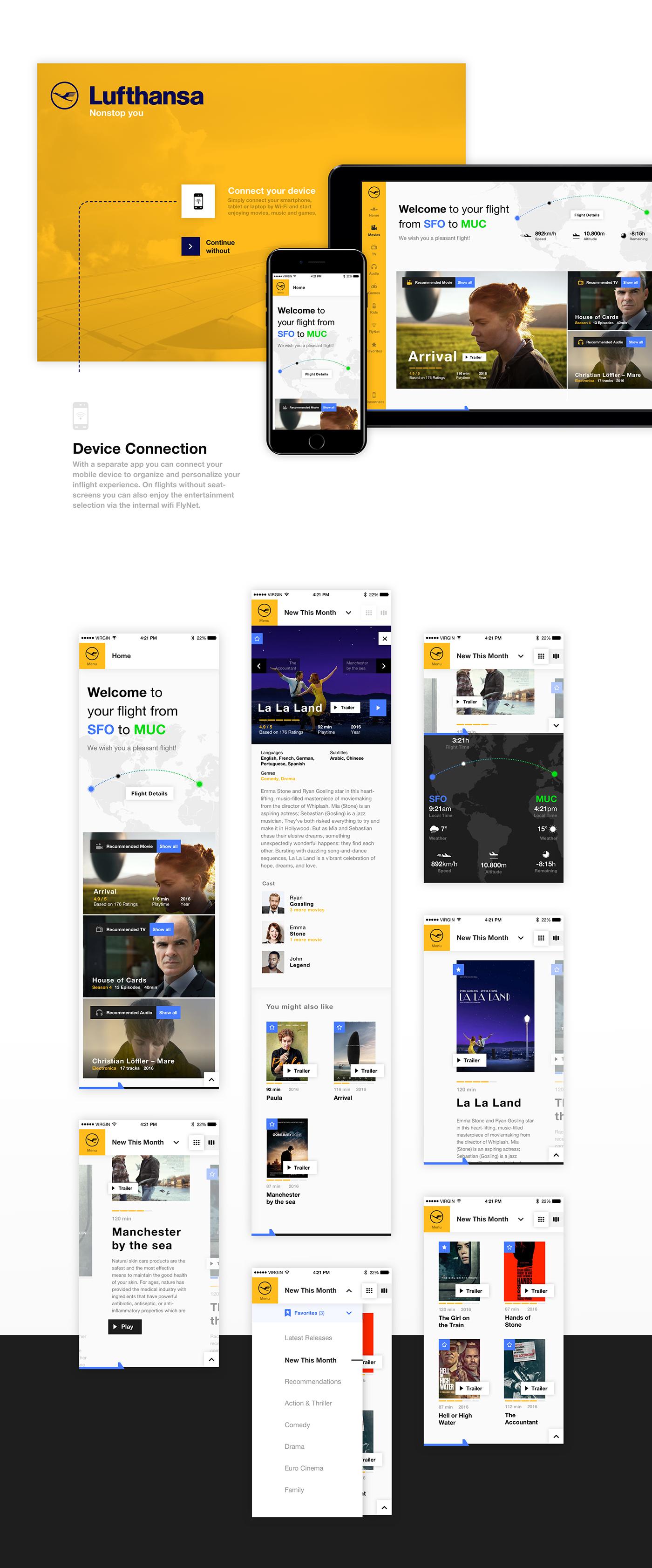ui design,Interface,UI,ux,GUI,interface design,inflight,Lufthansa,Infotainment,interactive