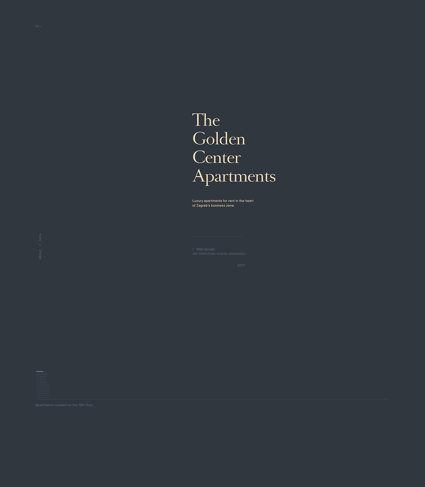 Golden Center Apartments —Web / Branding on Behance