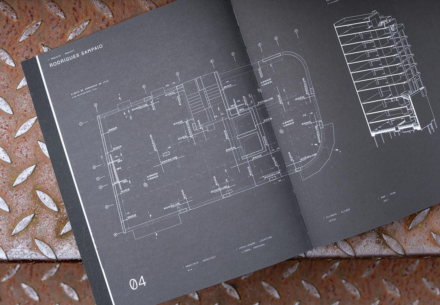 architecture book casestudies editorial Engineering  portfolio print publication typography