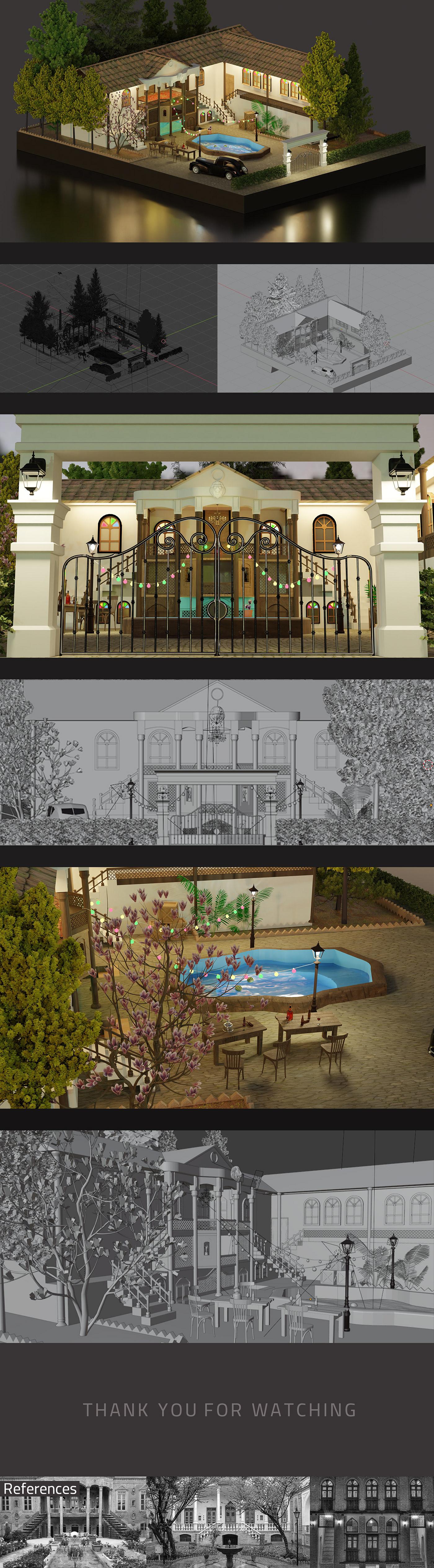 3d art,3d isometric ,3D model,armin khorsandipour,blender,Iran,Isometric,Tehran