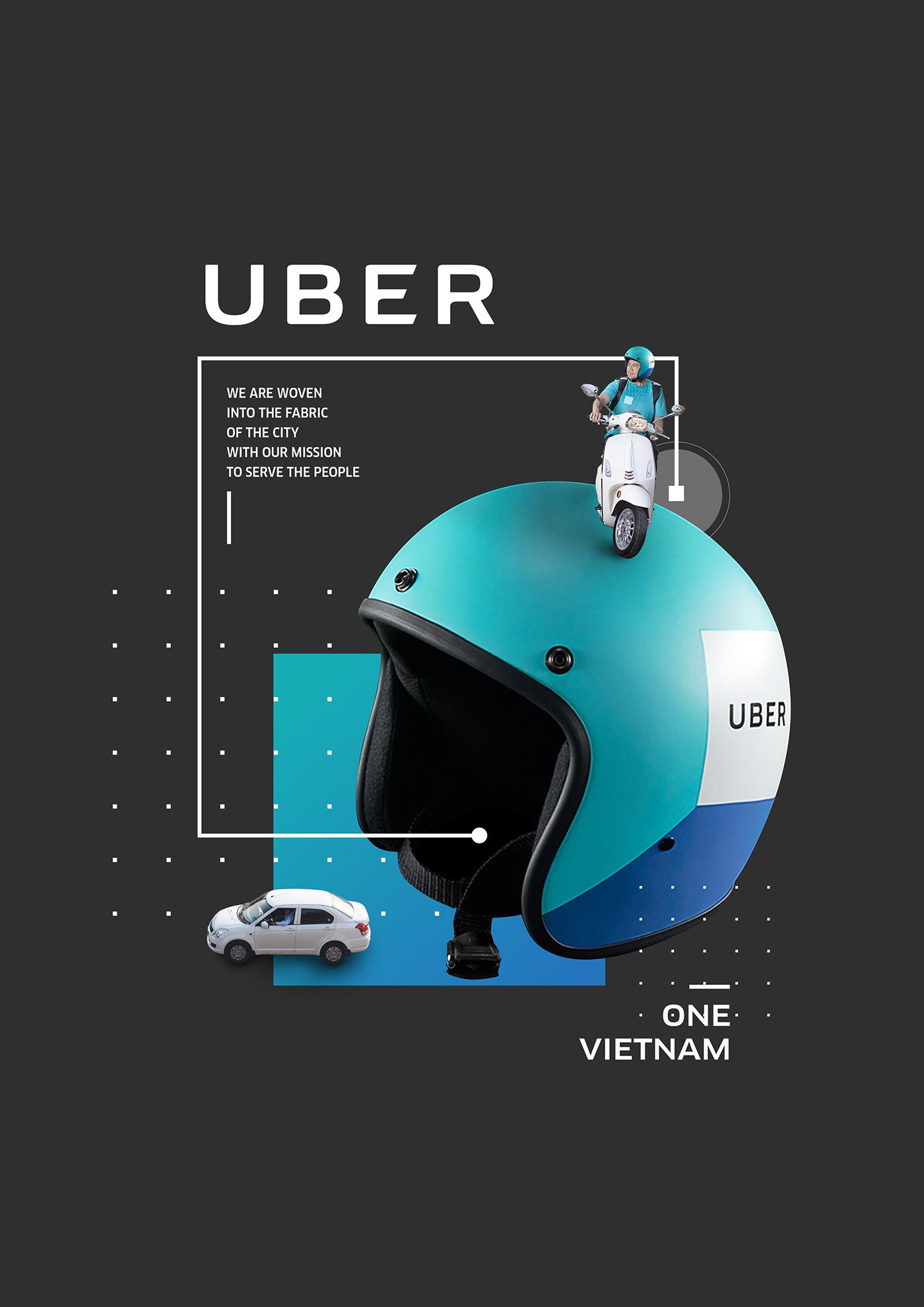 My works at Uber Vietnam on Behance