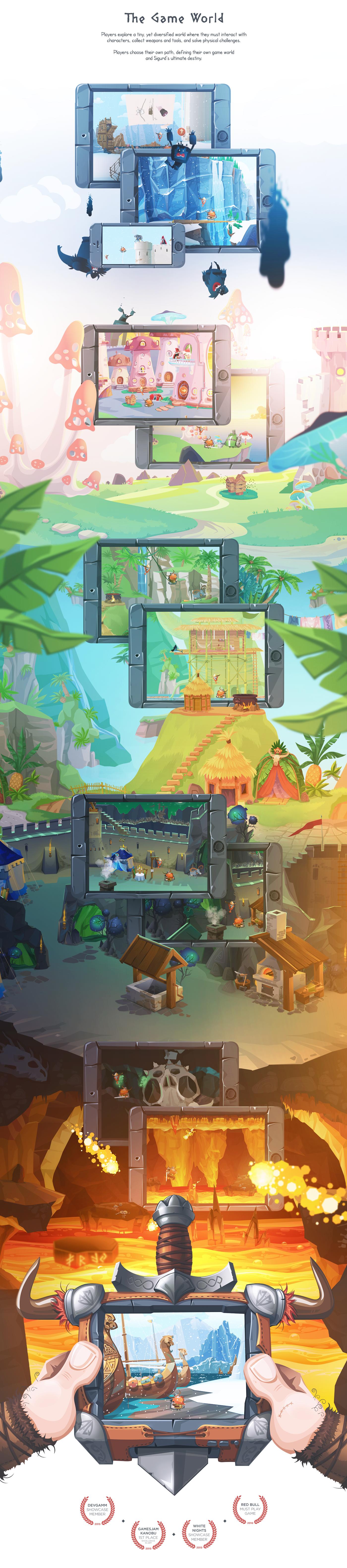iphone stone game viking iPad valkyrie valhalla adventure quest cartoon