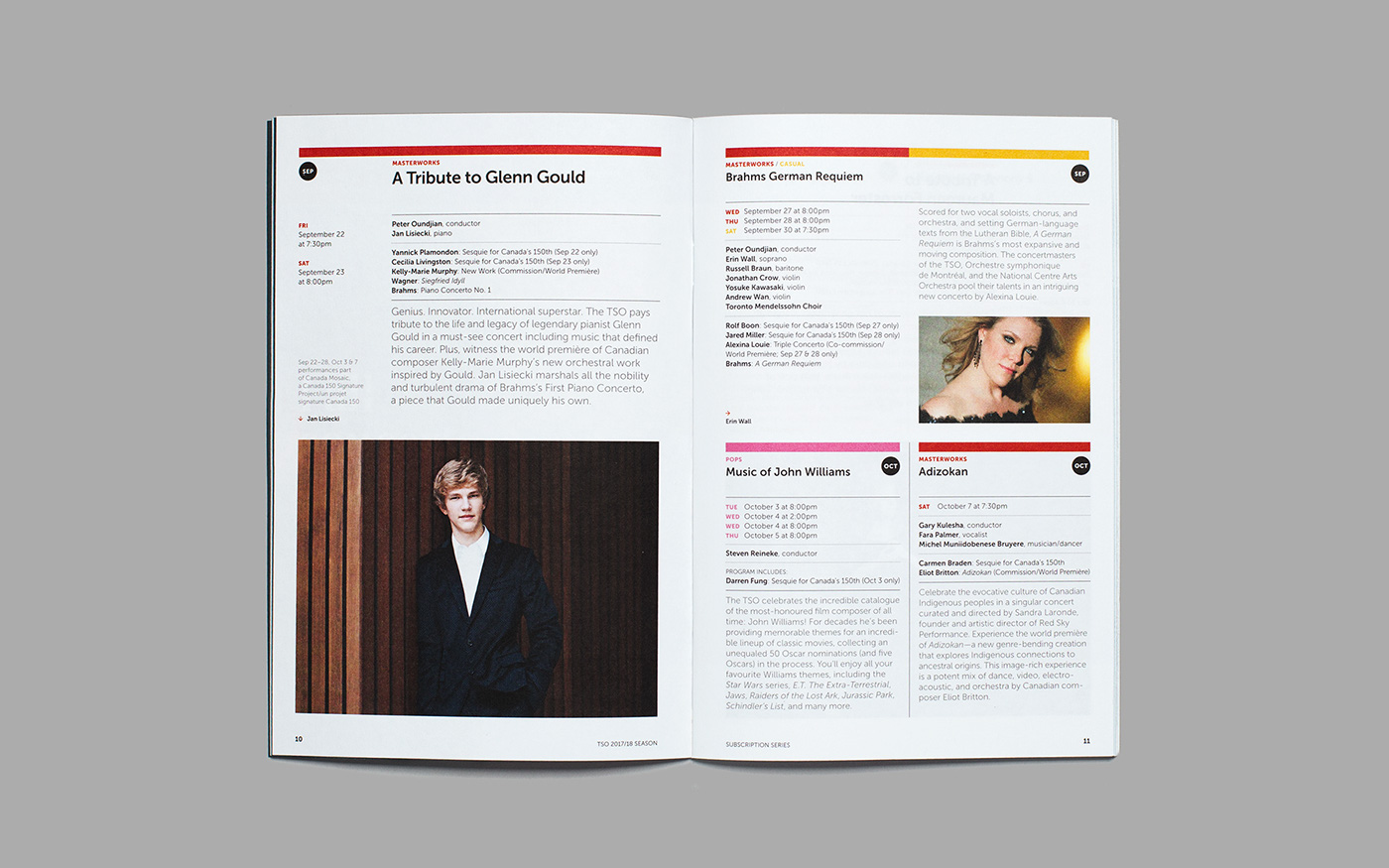 toronto symphony orchestra tso symphony orchestra brochure design information design pricing guide direct marketing subscription brochure music