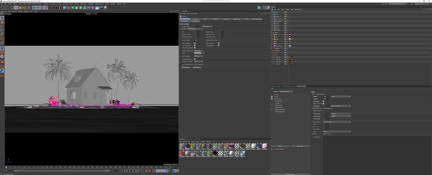 3D cinema 4d Digital Art  dragon ball z Fan Art houdini octane styleframe