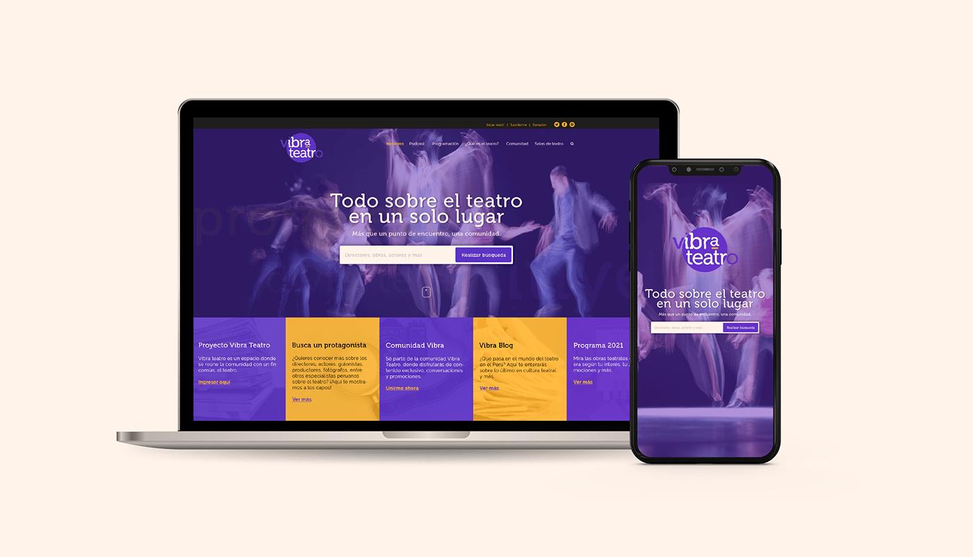 diseño gráfico experiencia interactivo landing page Narrativa Transmedia pagina web teatro ux