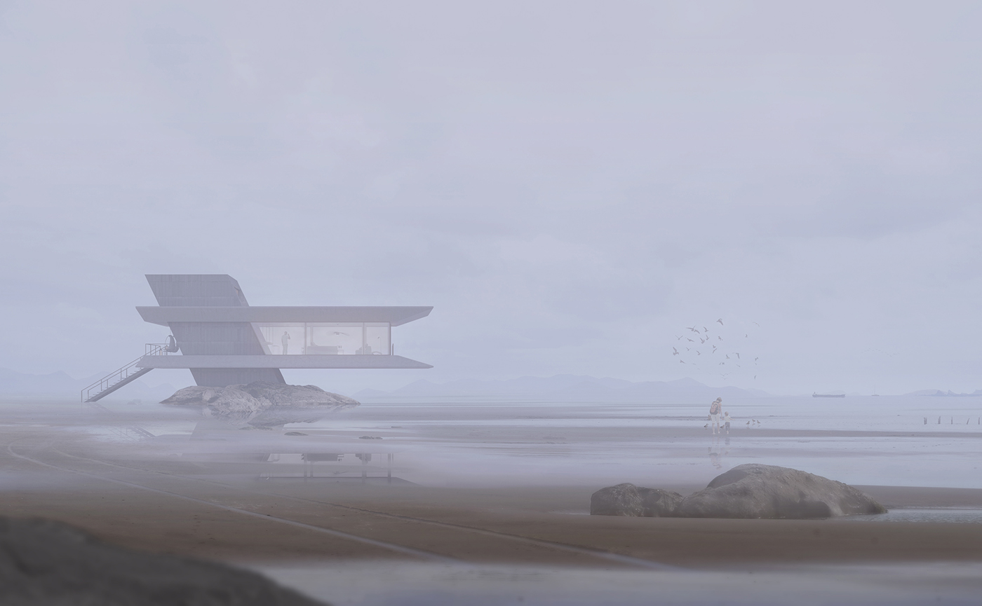 beach house Render design