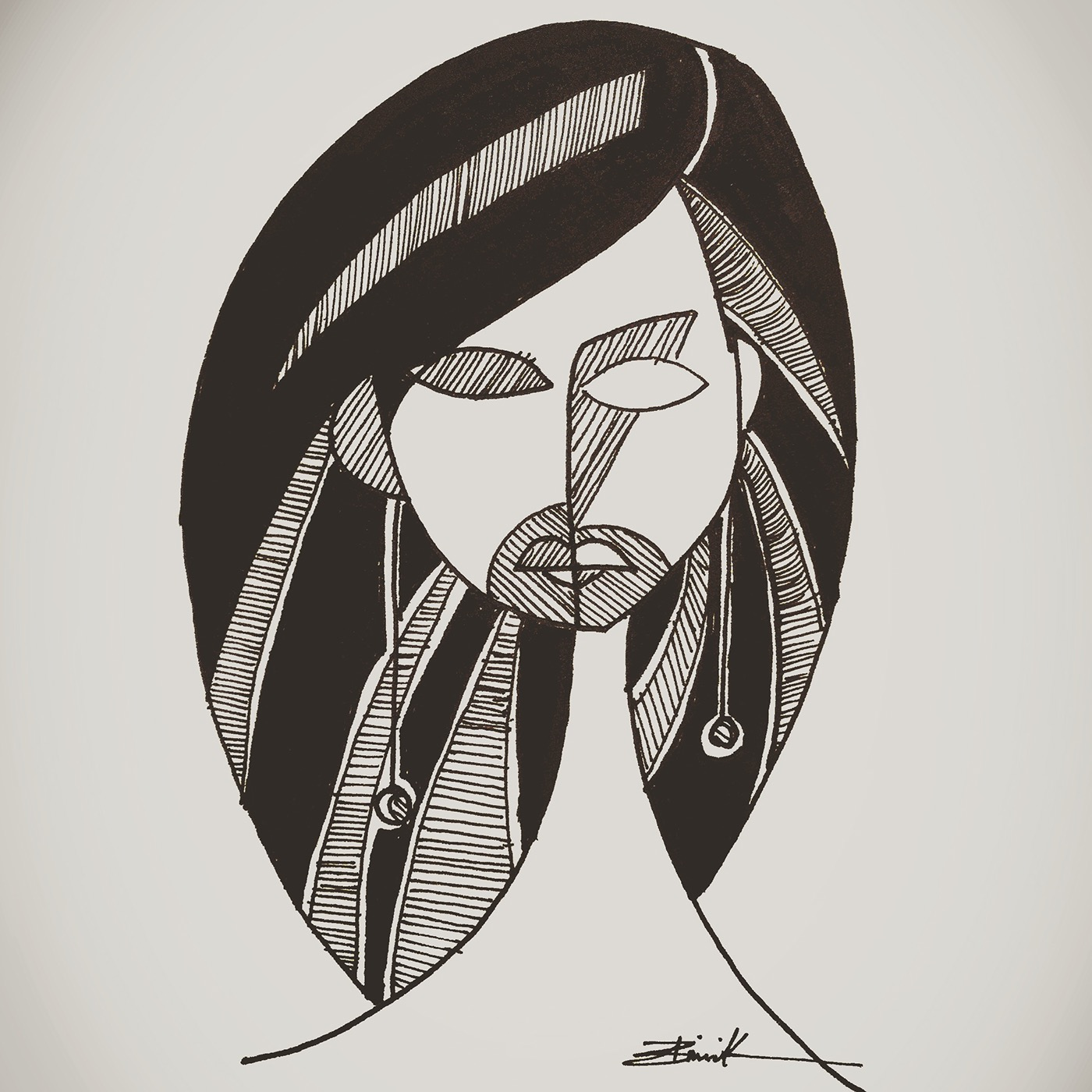 ink micron pen ILLUSTRATION  wax candles paper women middle east iraq BAGHDAD mesopotamia