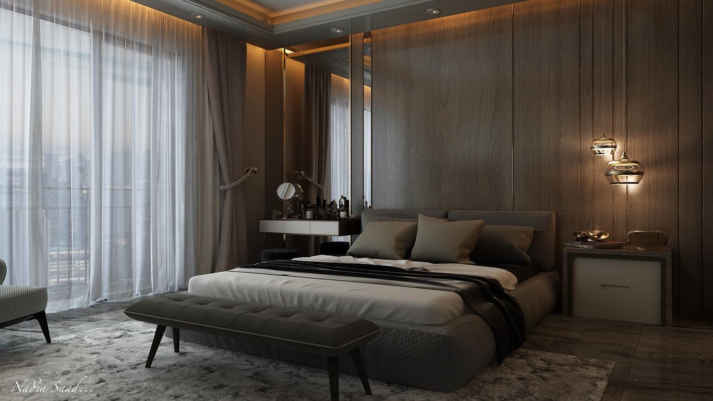 simple modern bedroom design on behance
