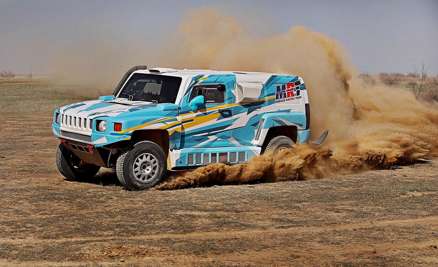 car decal rally Offroad futuristic hummer jeep kazakhstan MobileX Racing