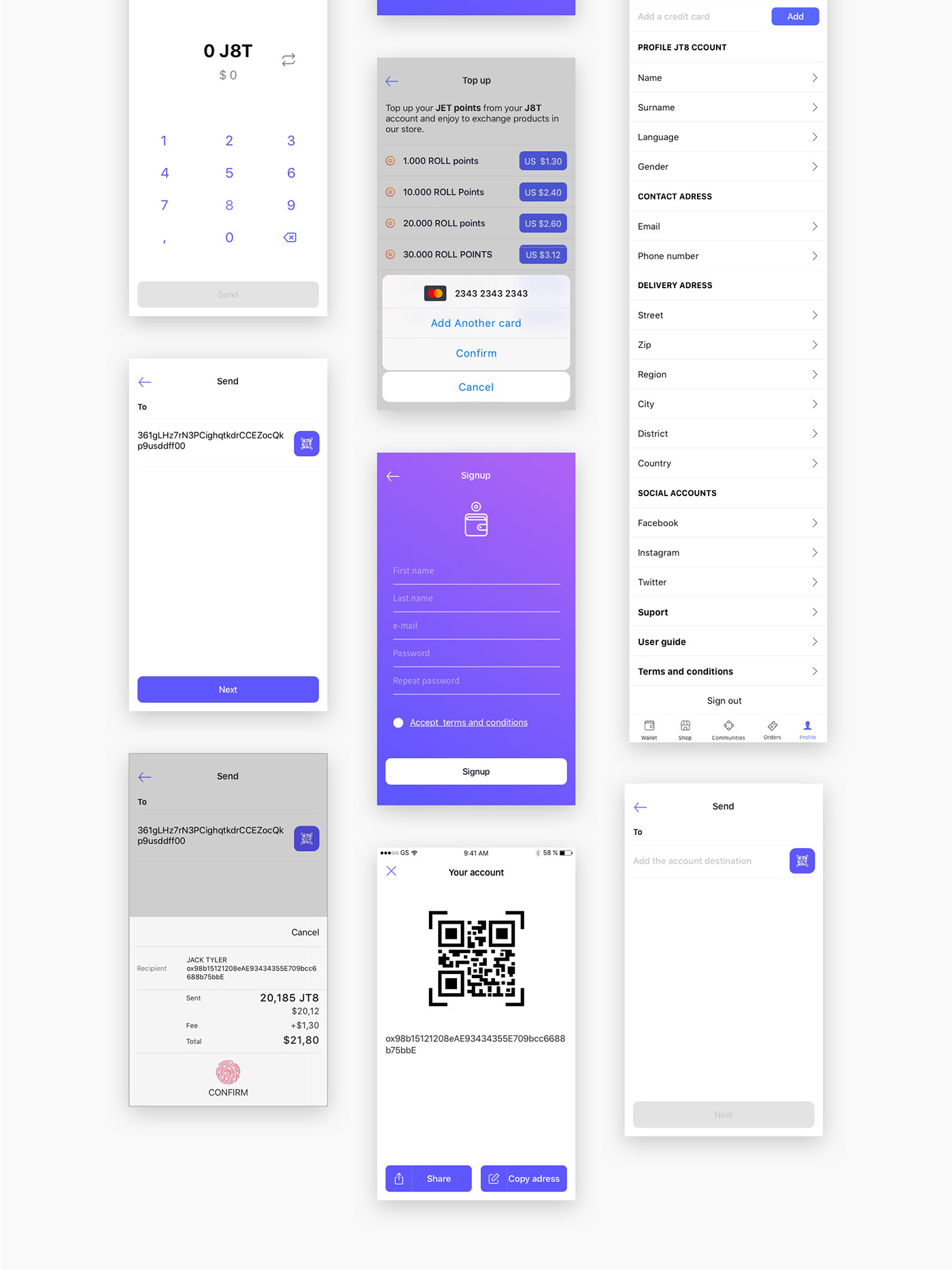 Rollcoin Wallet App Ux Ui Design On Behance