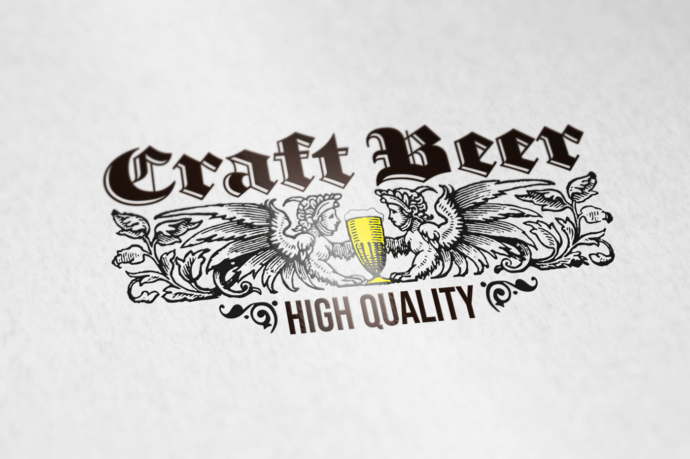 craft beer logo template design Logotype designers artwork graphic glass