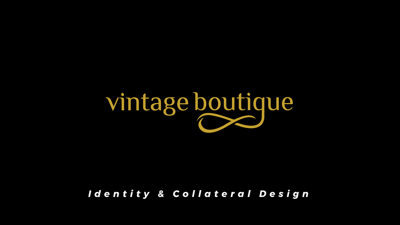 boutique design Brand collaterals brand identity Logo Design Vintage Boutique
