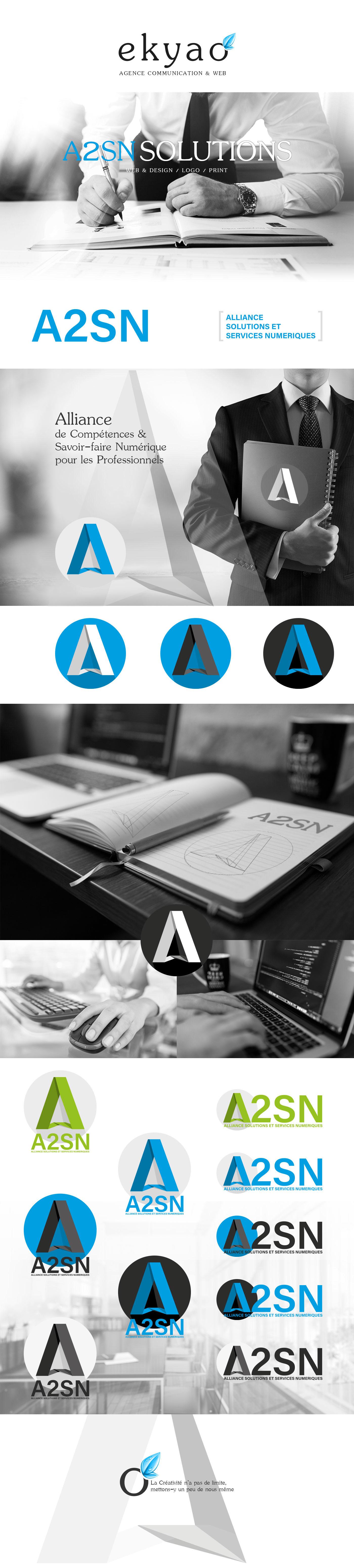 Adobe Portfolio ekyao logo portfolio Behance Webdesign design Responsive agence communication Web presentation a2sn
